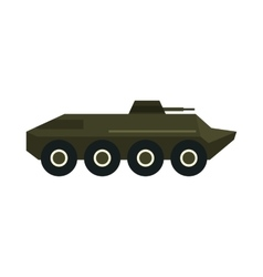 Armoured troop carrier wheeled icon flat style vector image