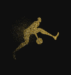 Basketball player silhouette gold glitter splash vector
