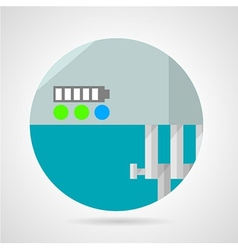Battery charge level flat icon vector image