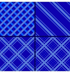 blue star striped pattern vector image vector image