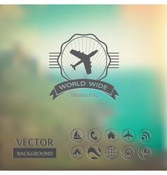 Blurred landscape vector