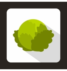 Cabbage icon in flat style vector image