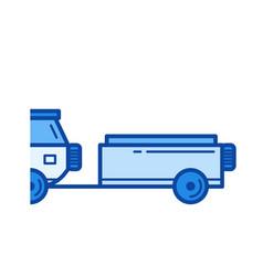 Car trailer line icon vector