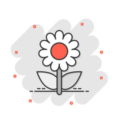 Cartoon chamomile flower icon in comic style vector