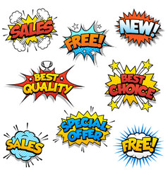 cartoon promotional graphics vector image