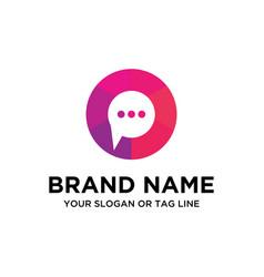 Chat logo vector