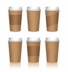 coffee cup templates vector image