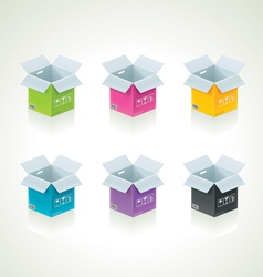 colorful boxes vector image