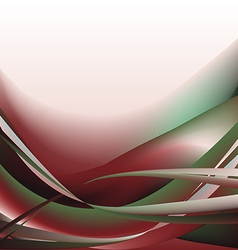 Colorful waves isolated abstract background vector image vector image
