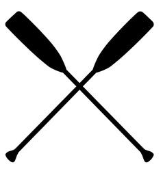 Crossed oars vector image