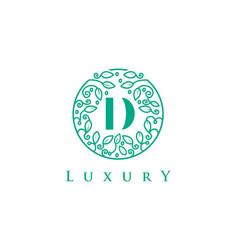 d letter logo luxurybeauty cosmetics logo vector image
