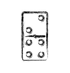 domino piece symbol vector image