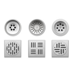drainage set for bathroom floor drain vector image