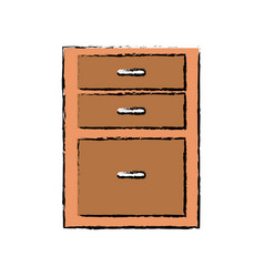 Drawers from wooden cabinet image vector