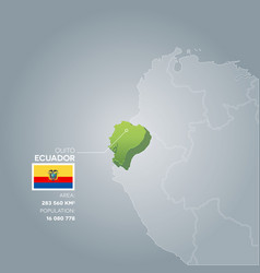 ecuador information map vector image
