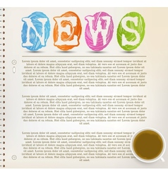 Education News vector image