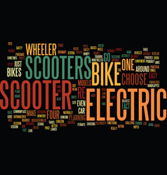 Electric scooter bike text background word cloud vector