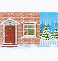 entrance to the suburban house vector image