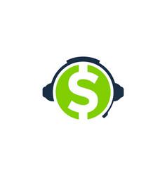 Finance podcast logo icon design vector