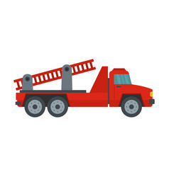 fire engine icon flat style vector image