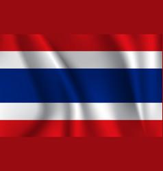 Flag kingdom thailand vector