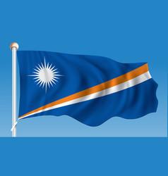 Flag of marshall islands vector
