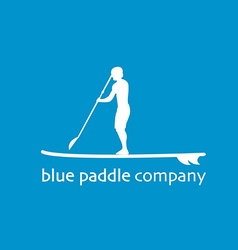 Flat design style of stand up padlle company vector