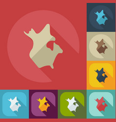 flat modern design with shadow icons map canada vector image
