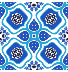 Floral seamless pattern with bold ornament vector image