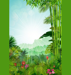 Forest landscape of tropical background vector