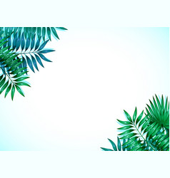 frame colorful tropical leaves concept the vector image