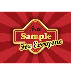 Free sample label in retro style vector