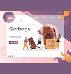 garbage website landing page design vector image