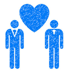 Gay lovers grunge icon vector