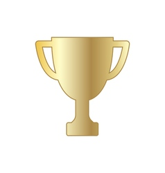 Gold winner trophy cup vector image
