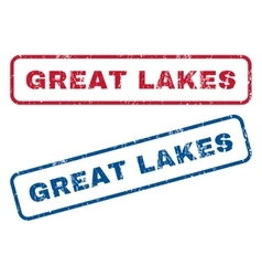 Great Lakes Rubber Stamps vector image