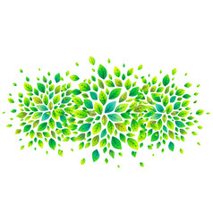green fresh leaves banner background vector image