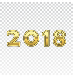 happy new year golden numbers gold numbers 2018 vector image
