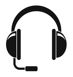 Headset icon simple style vector