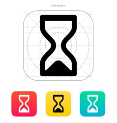 Hourglass ended icon vector image