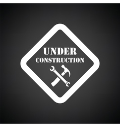 Icon of Under construction vector