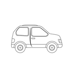 isolated particular car vector image