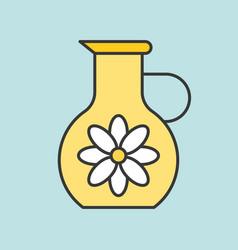 Jug floral essence filled outline icon for bea vector