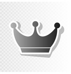 king crown sign new year blackish icon on vector image