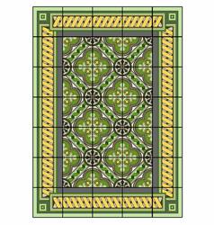 Large green carpet vector