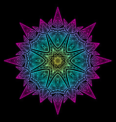 mandala black new 6 vector image