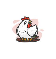 mascot chicken vector image