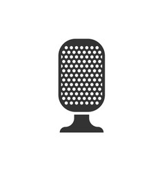 microphone icon in flat style mic broadcast on vector image