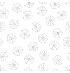 Morning glory flower outline on white background vector