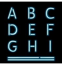 Neon Light Alphabet 1 vector